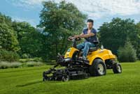 Garden machinery parts - man on mower